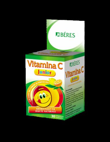 BÉRES Vitamina C Junior Portocale  30cpr